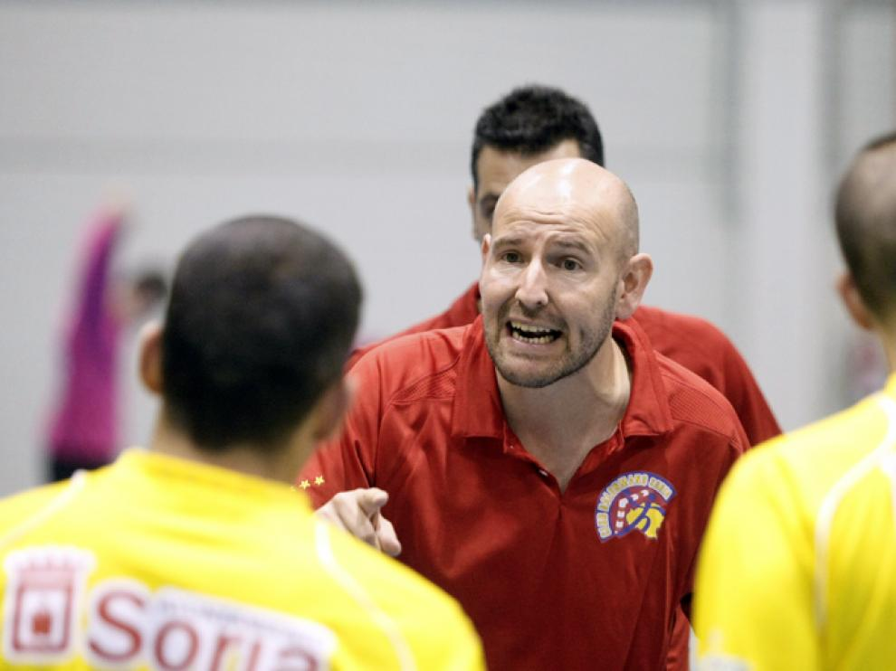 Sánchez Siscart en un partido en Soria