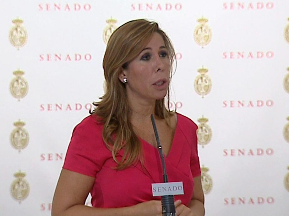 Alicia Sánchez-Camacho, este martes en el Senado