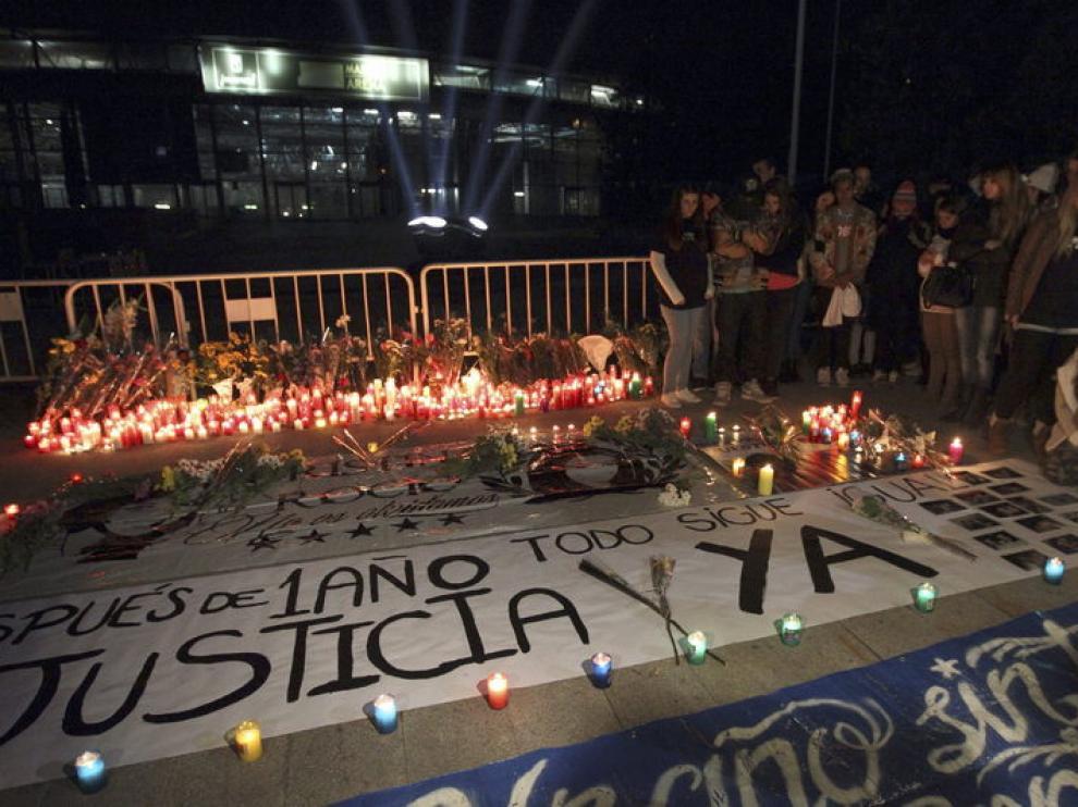 Primer aniversario de las víctimas del Madrid Arena
