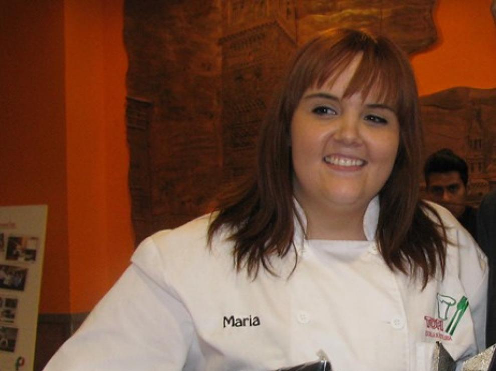 María Clavería, alumna de Topi finalista en el concurso nacional de tapas Aula Makro