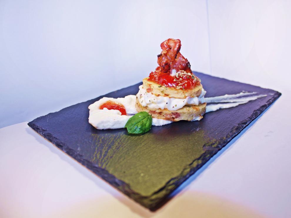 'El Caprichico', cup cake salado de bacon y queso