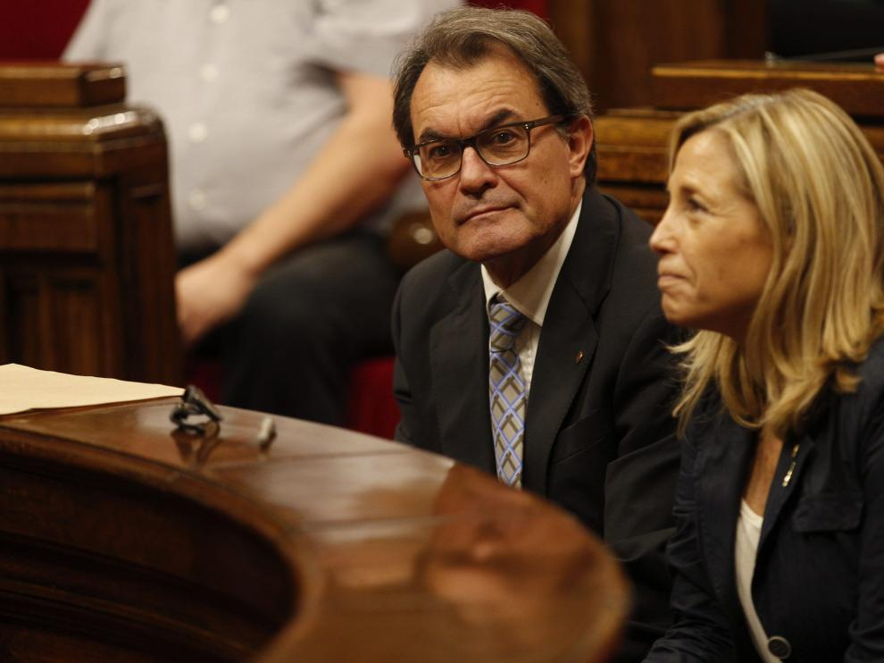 Artur Mas, este jueves en el Parlamento catalán