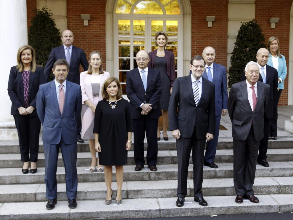Foto de familia del Gobierno de Rajoy