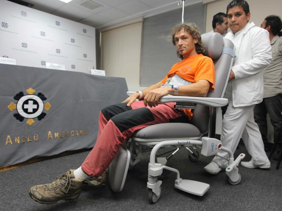 Cecilio López Tercero, este sábado en la clínica de Lima