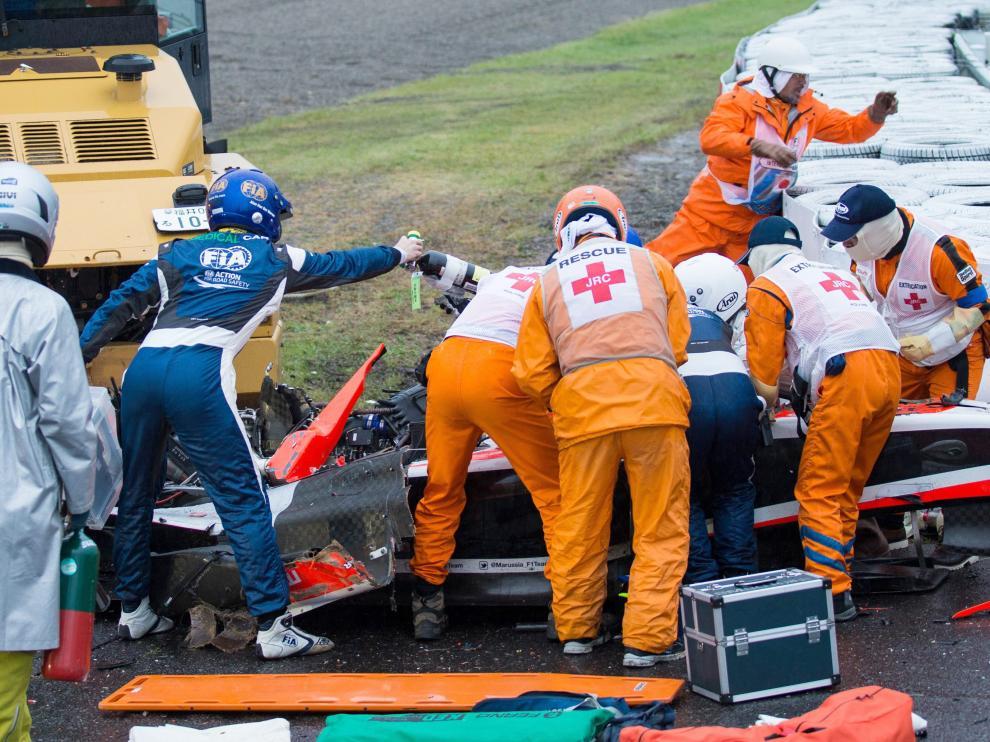 Bianchi, atendido tras el accidente en Suzuka