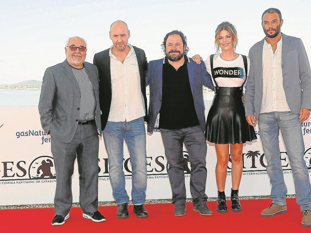 Jaume Balagueró, Julio Fernández, Ismael Fritschi, Manuela Velasco y Paco Manzanedo.