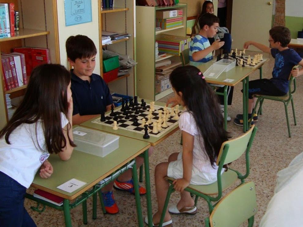Torneo de ajedrez en el colegio Virgen del Pilar de Calanda
