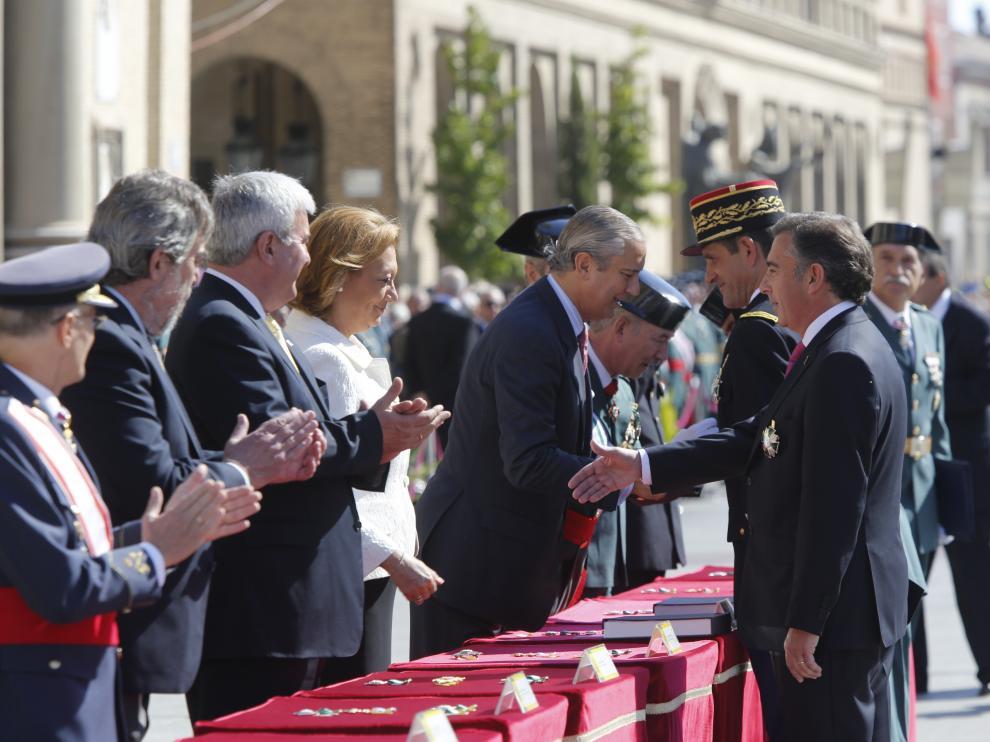 Rudi preside los actos de celebración de la patrona de la Guardia Civil