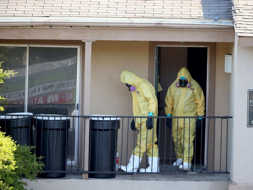 Registro del apartamento del liberiano Duncan, en Texas