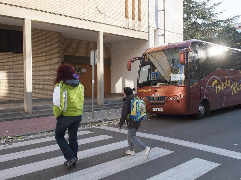 Imagen de archivo de una ruta escolar en Zaragoza