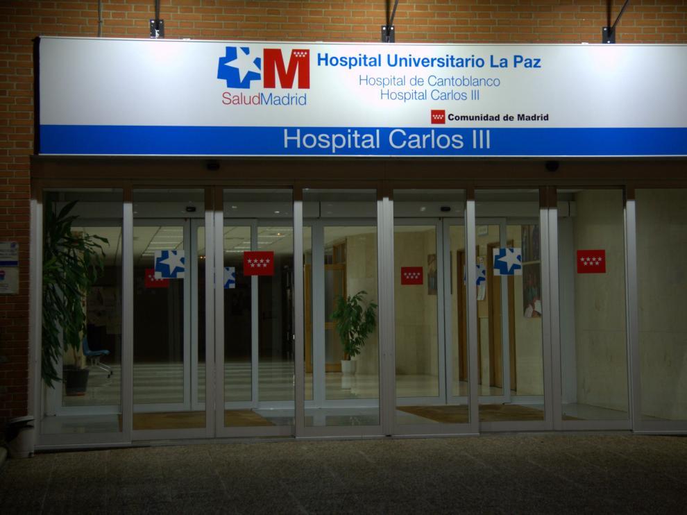 Entrada al Hospital Carlos III de Madrid