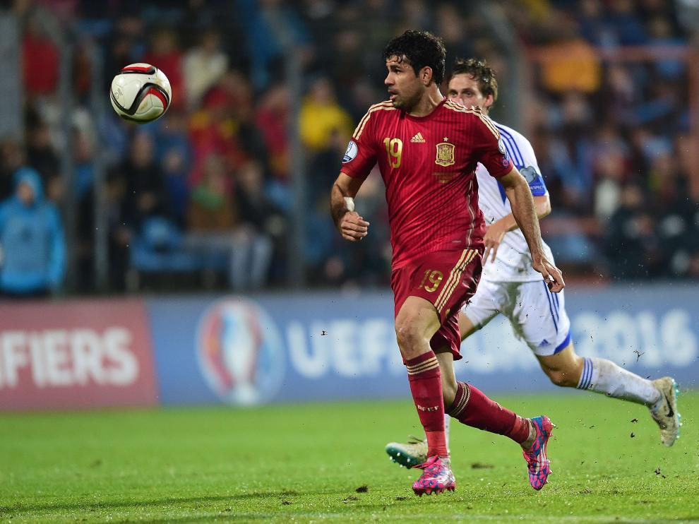Diego Costa, durante el partido