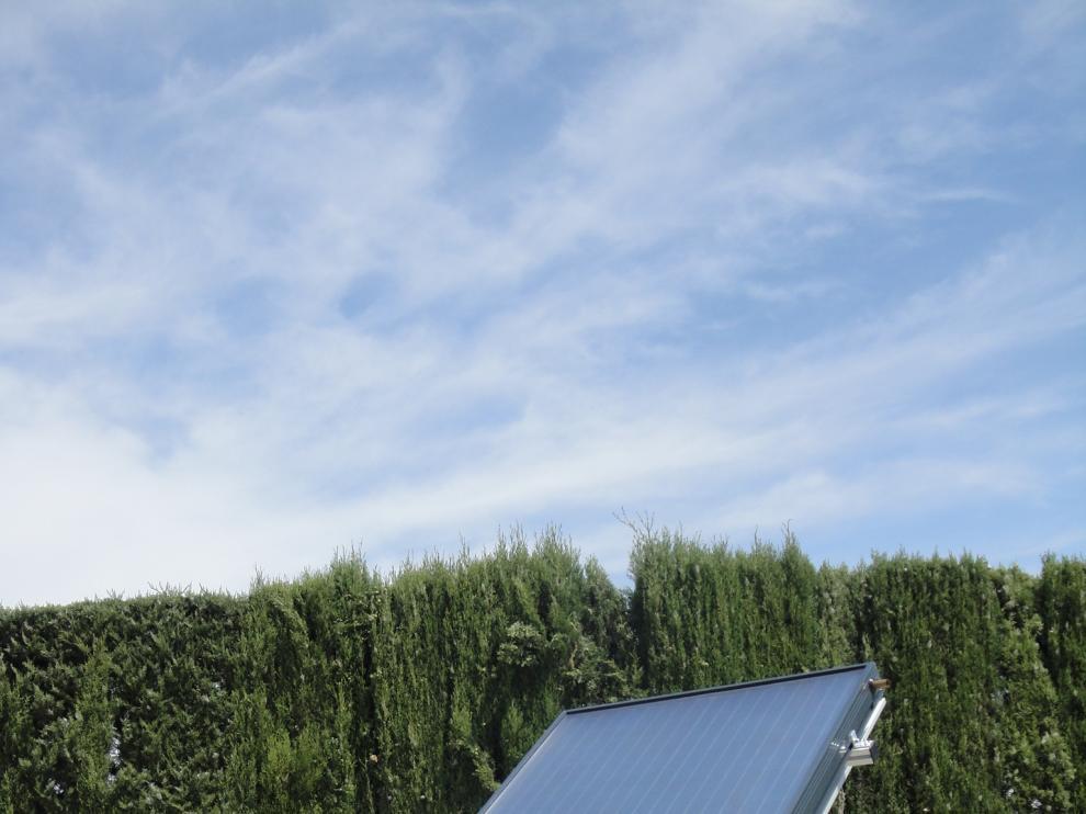 Uno de los paneles solares, que han obtenido premios internacionales