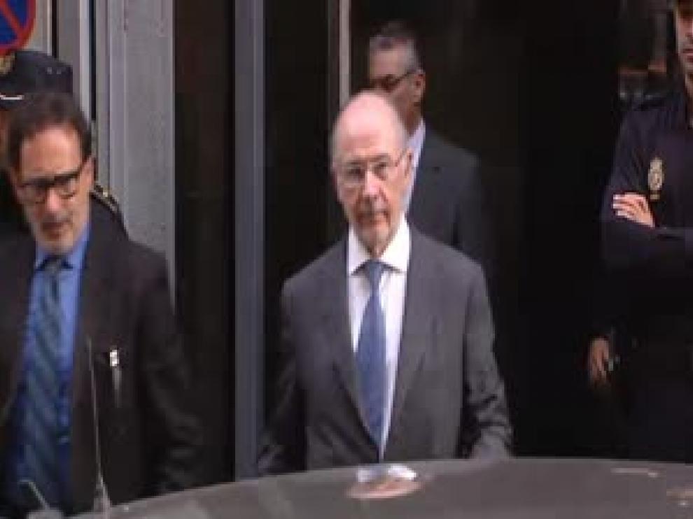 Blesa, Rato y Sánchez Barcoj salen de declarar ante el juez por el escándalo de las tarjeta 'opacas'
