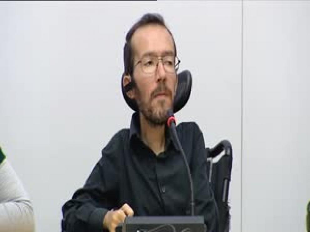 """Pablo Echenique (Podemos): """"Hemos demostrado en muchas ocasiones que somos algo nuevo"""""""