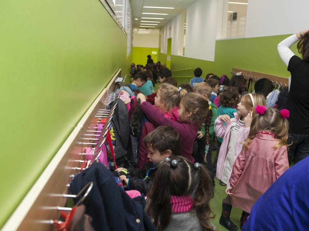Imagen de archivo de un colegio zaragozano