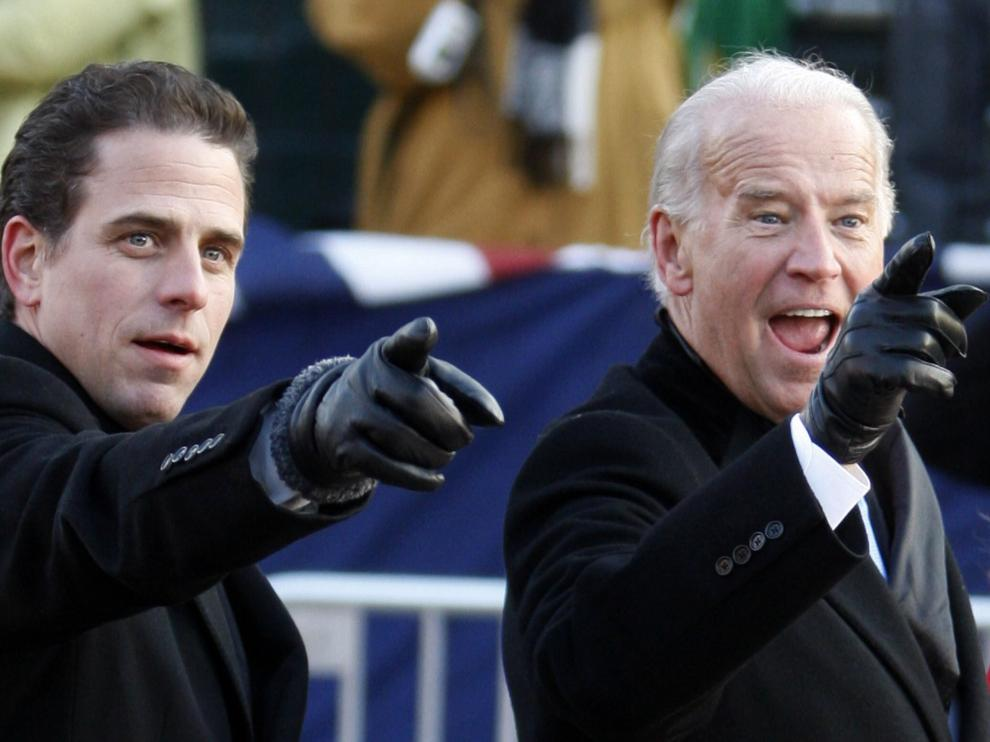 Hunter Biden (i) y Joe Biden (d) en una imagen de archivo