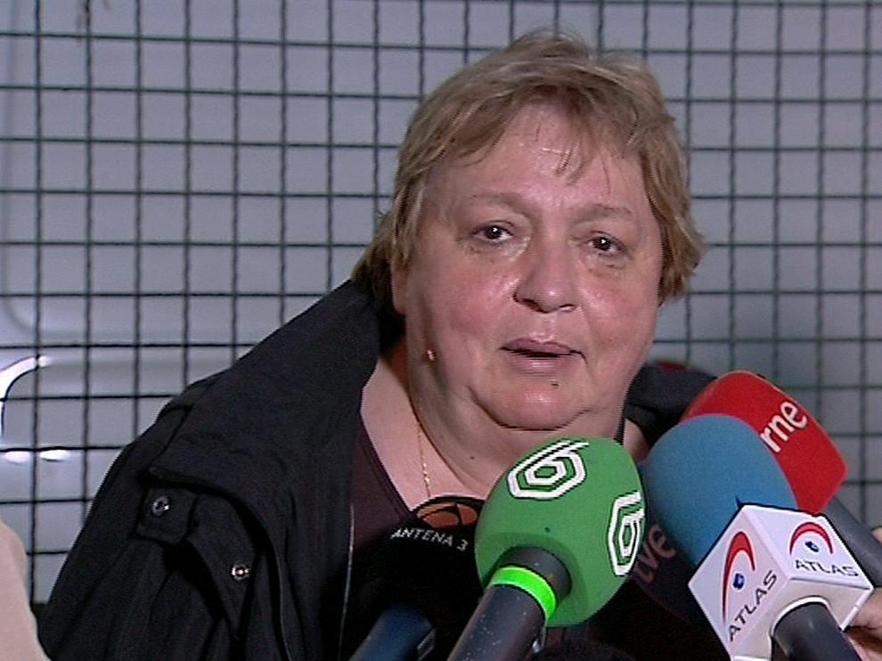 Imagen de televisión de María Teresa Mesa, portavoz de la auxiliar de enfermería