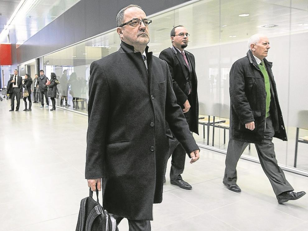 Agapito Iglesias tendrá que volver el lunes a la Ciudad de la Justicia de Zaragoza.