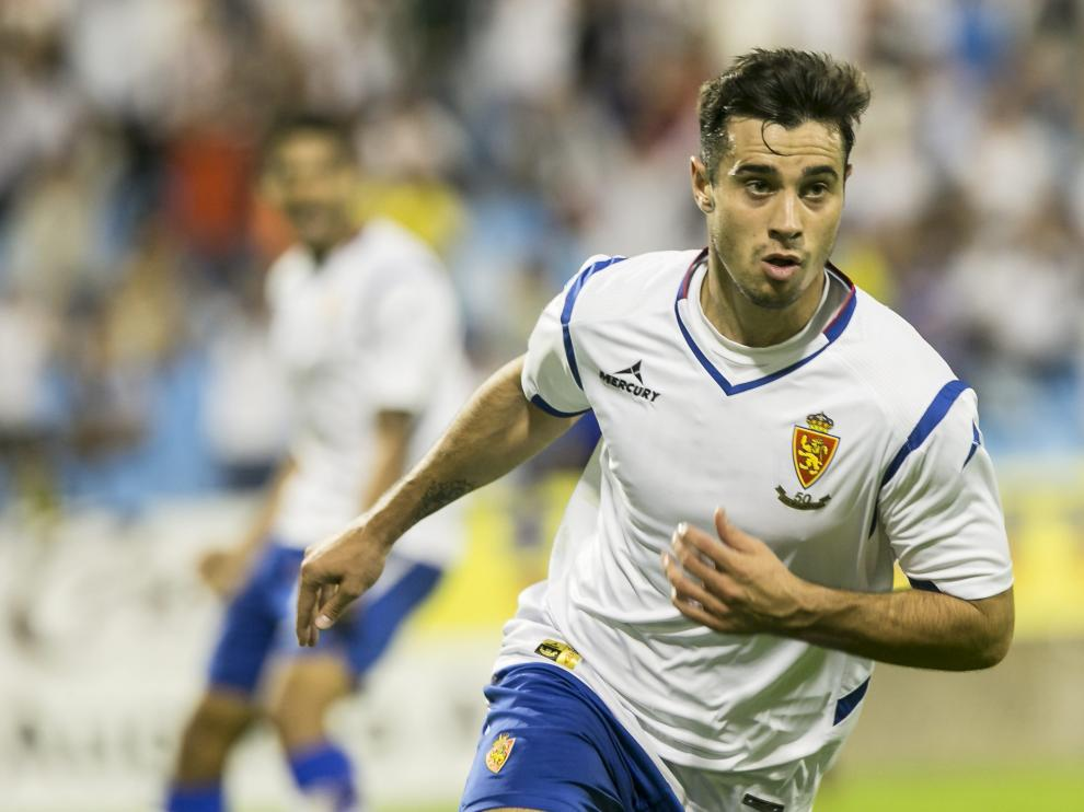 Jaime Romero celebra el gol contra el Racing
