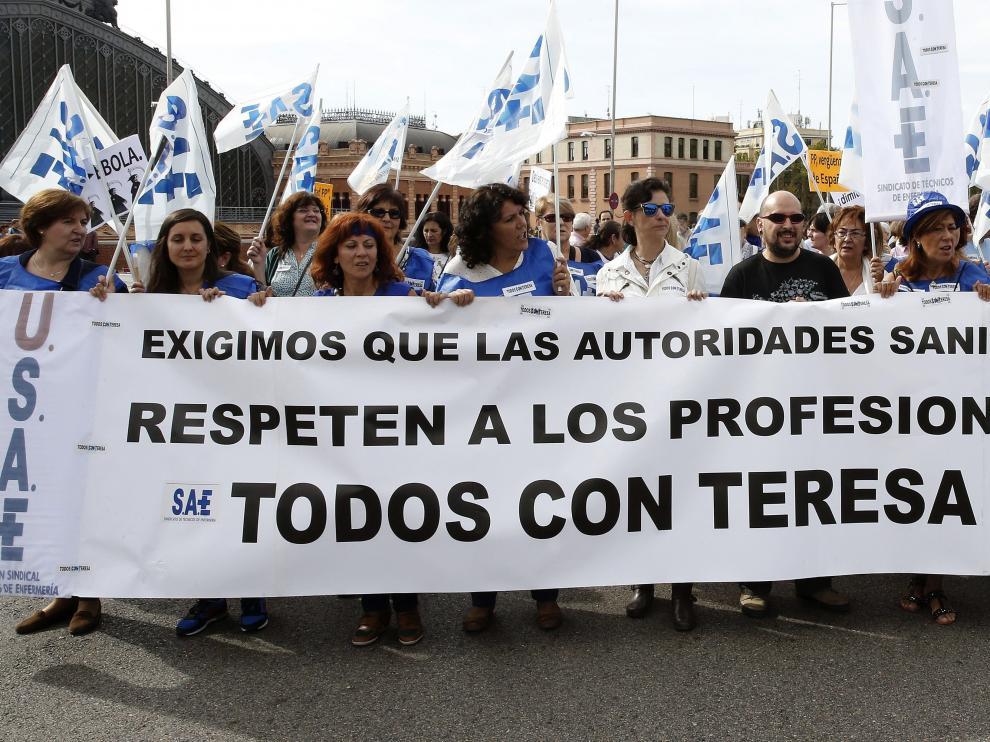Manifestación de Marea Blanca en Madrid.