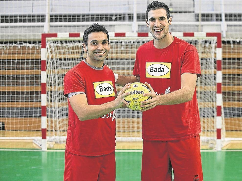 Toño Cartón, a la izquierda, y Carlos Molina ya saben lo que es medirse al Eskilstuna Guif.