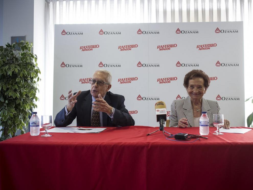 El presidente de la Fundación, Enrique Santamaría, y la vicepresidenta, Ana María Cortés