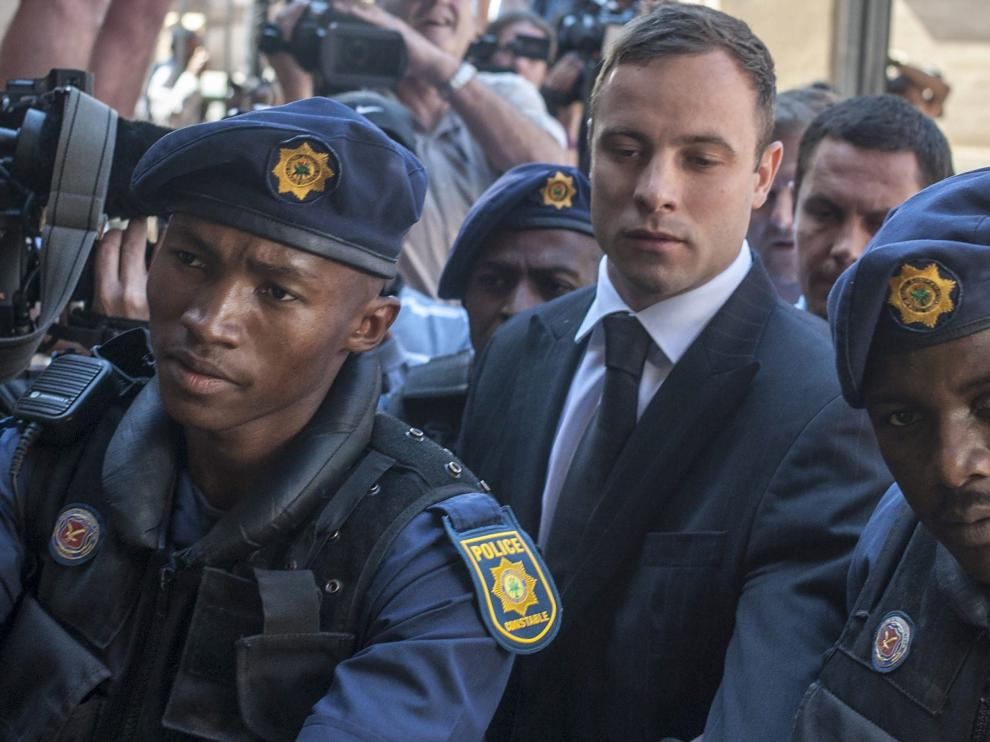 Pistorius ha estado presente en la lectura de la sentencia