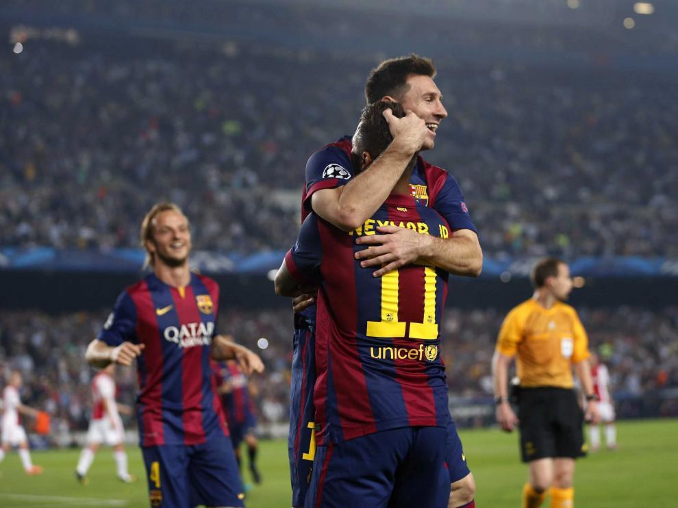 Messi y Neymar comandaron la victoria dirigiendo al Barça