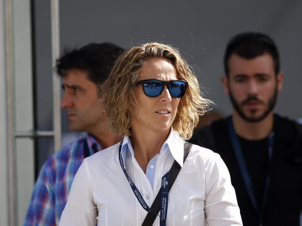 León durante su asistencia al Valencia Open 500