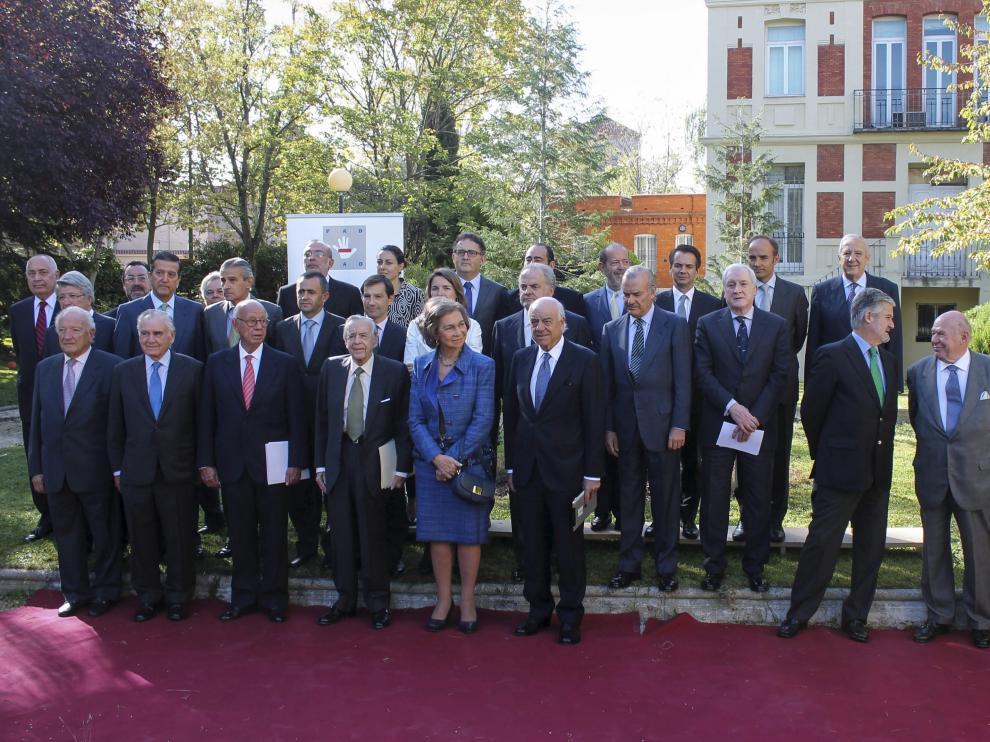 La reina Sofía, con los miembros del Patronato de la Fundación de Ayuda contra la Drogadicción
