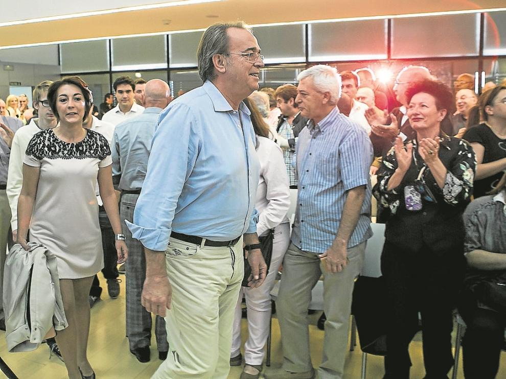 Pérez Anadón, momentos antes de intervenir ante 250 militantes socialistas.