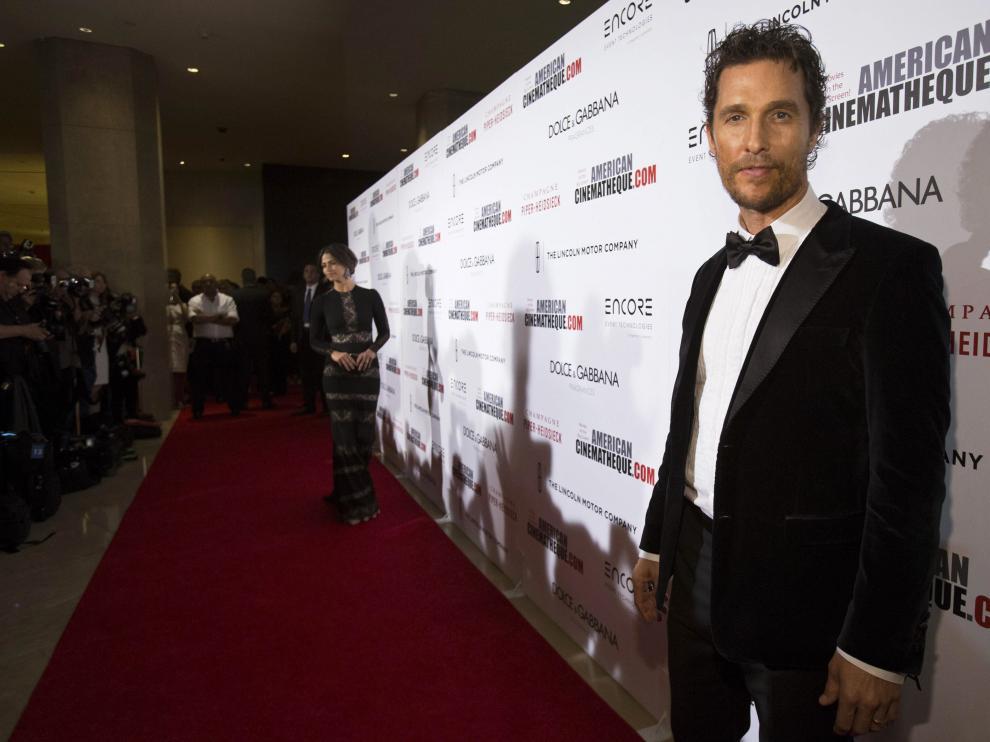 Matthew McConaughey durante unos premios en Beverly Hills