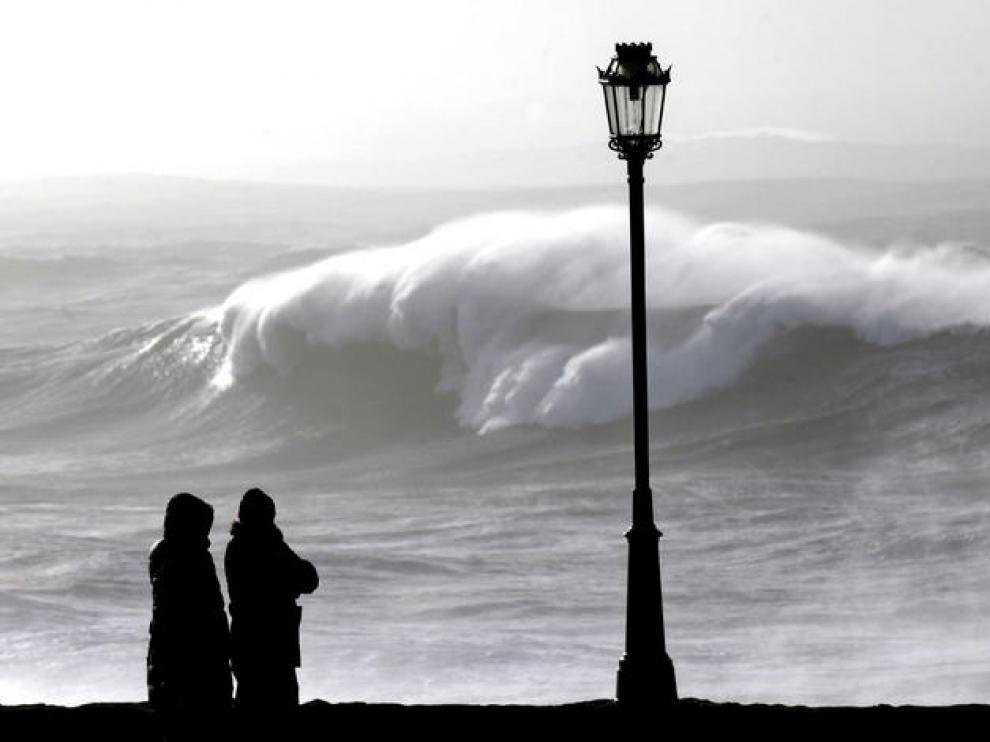 Ola gigante en el litoral gallego en el pasado invierno