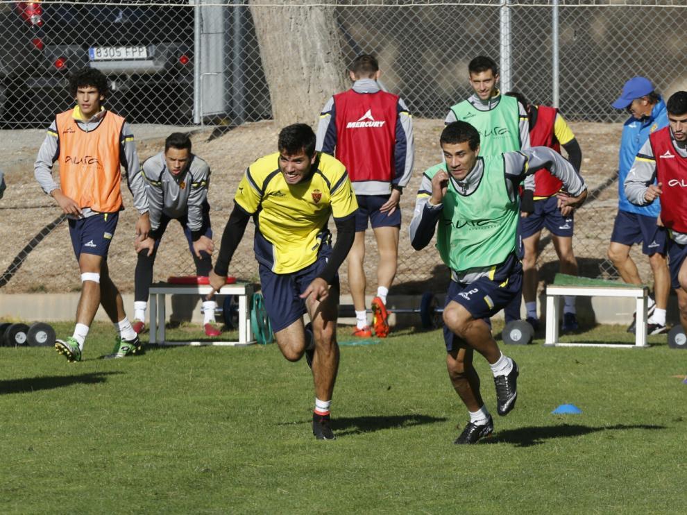 El Real Zaragoza prepara el partido contra el Alcorcón
