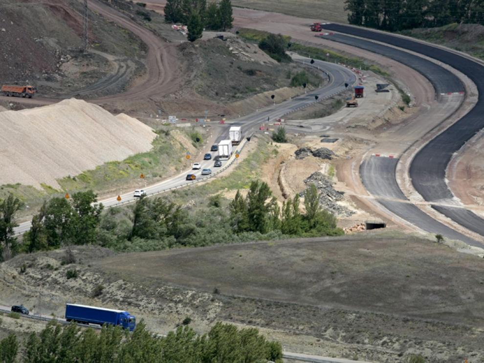 Obras en la A-15 en el tramo Medinaceli-Radona en mayo de este año