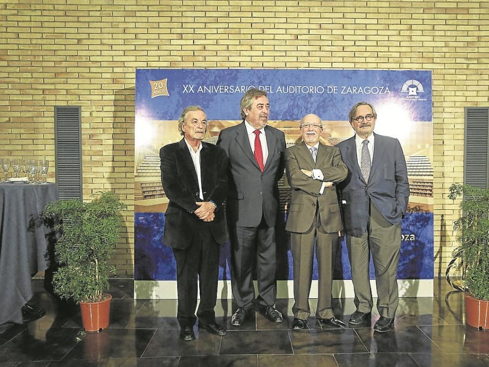 García Nieto, Belloch, Tapia y Pérez Latorre, durante la celebración.