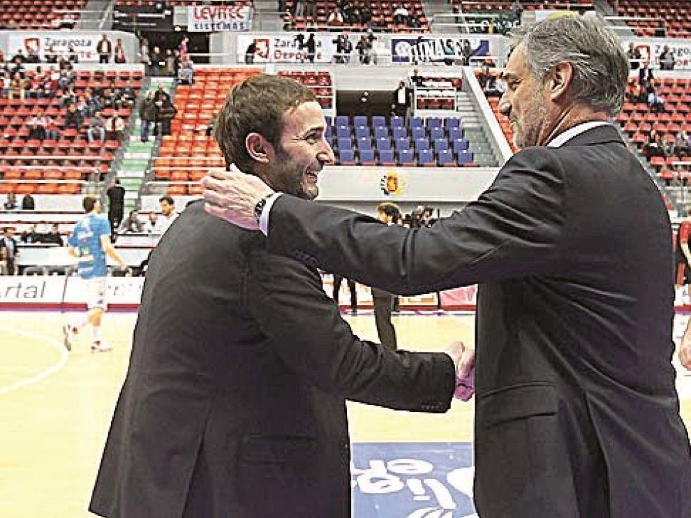 Sito Alonso y José Luis Abós, dos técnicos aragoneses en la cresta de la ola de la ACB.