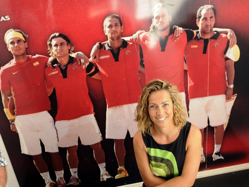 Gala León en la Federación Andaluza de Tenis, Sevilla