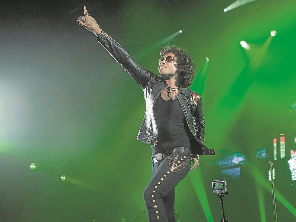 Bunbury, en Zaragoza, el pasado junio, en el concierto de presentación del disco 'Palosanto'.