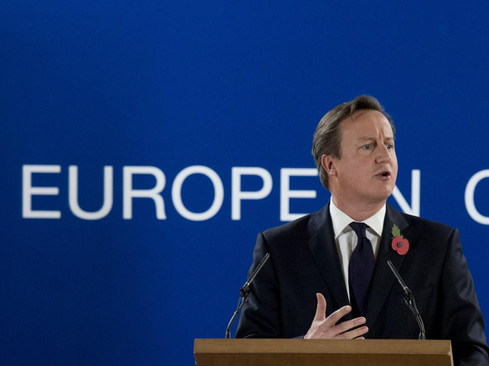 David Cameron en rueda de prensa