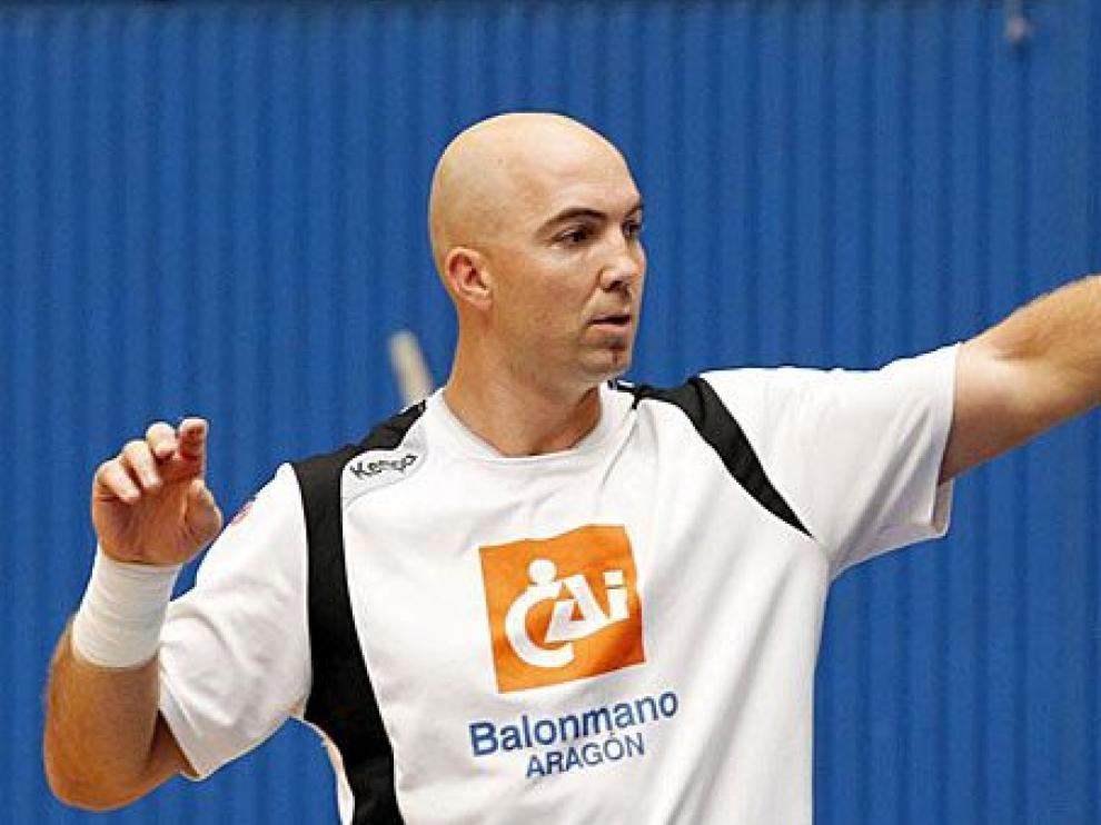 Demetrio Lozano, durante un entrenamiento.