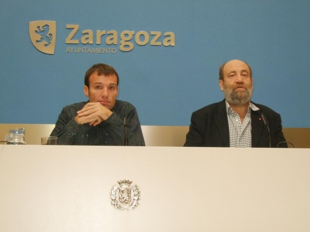 José Manuel Alonso y Pablo Muñoz, durante la rueda de prensa