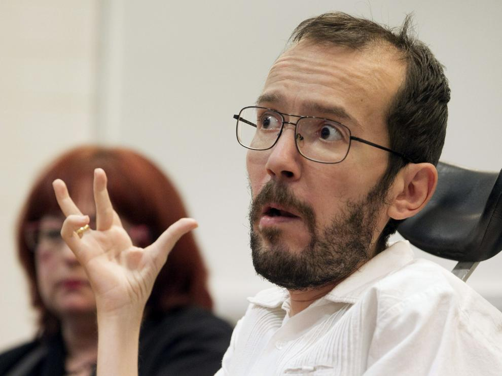 Pablo Echenique, en Zaragoza