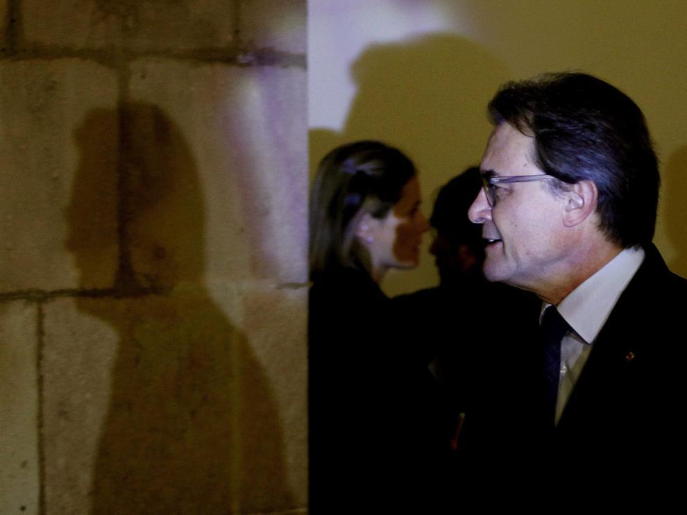 Artur Mas a su llegada al Parlamento Catalán