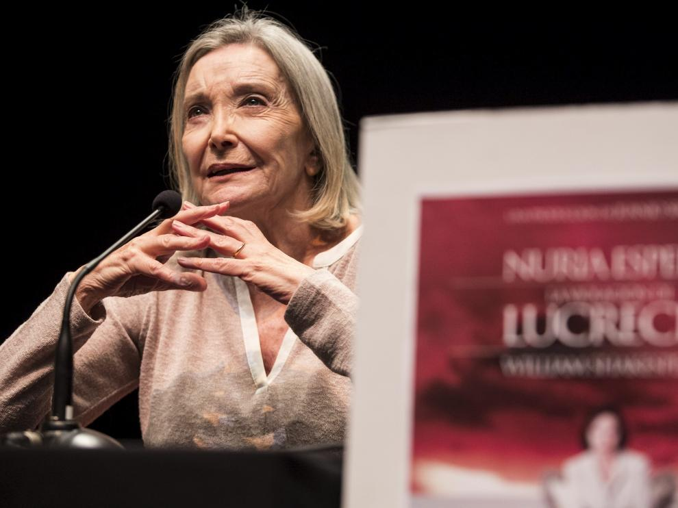 Nuria Espert, este viernes en Zaragoza