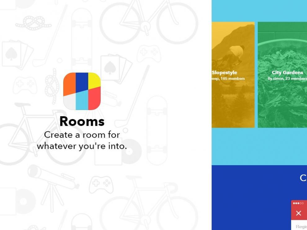 Rooms solo está disponible para iOS en EE. UU.