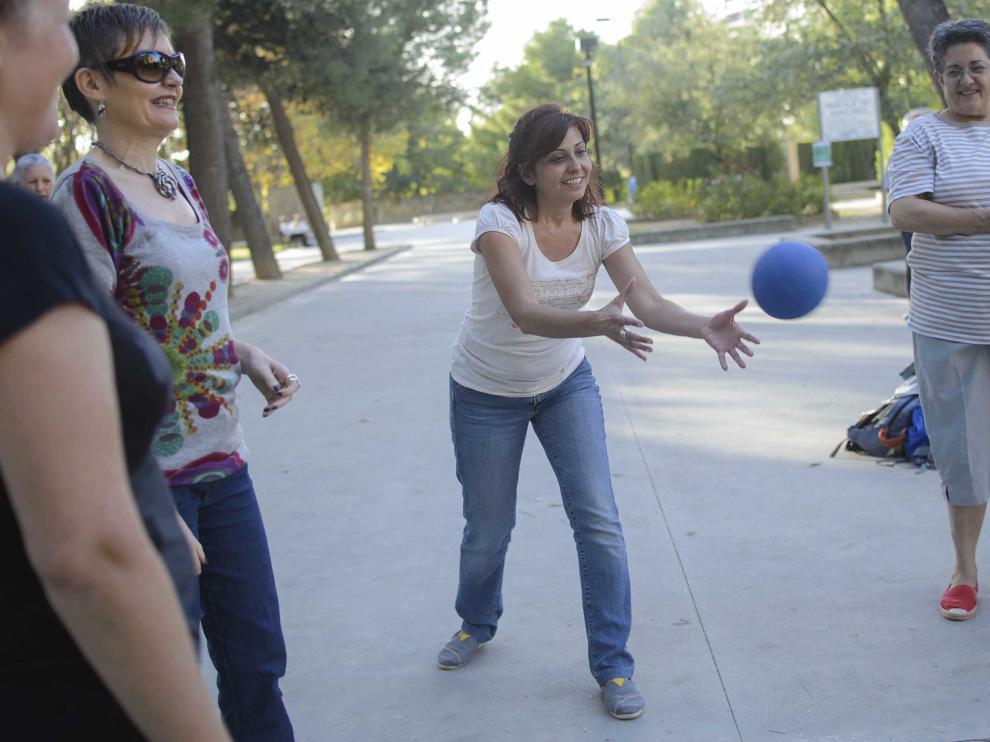 Muchas personas se han acercado a disfrutar del Parque Delicias este sábado