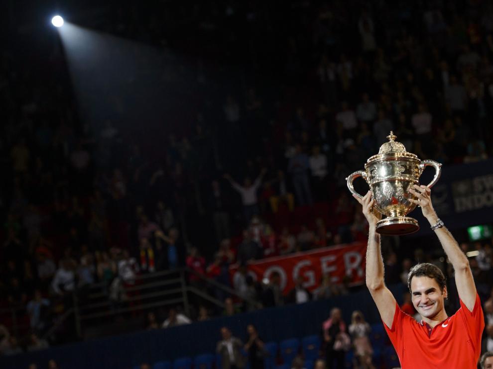 Federer celebra su victoria