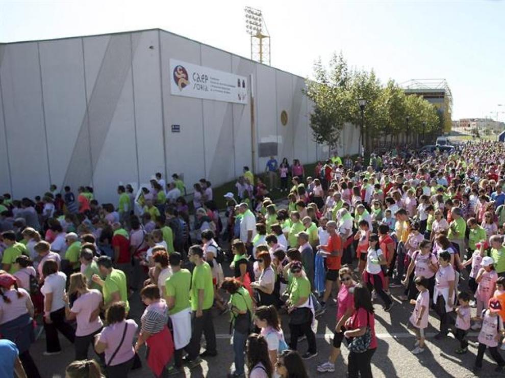 Más de cuatro mil quinientas personas han marchado hoy en Soria, desde Los Pajaritos al centro de la ciudad,